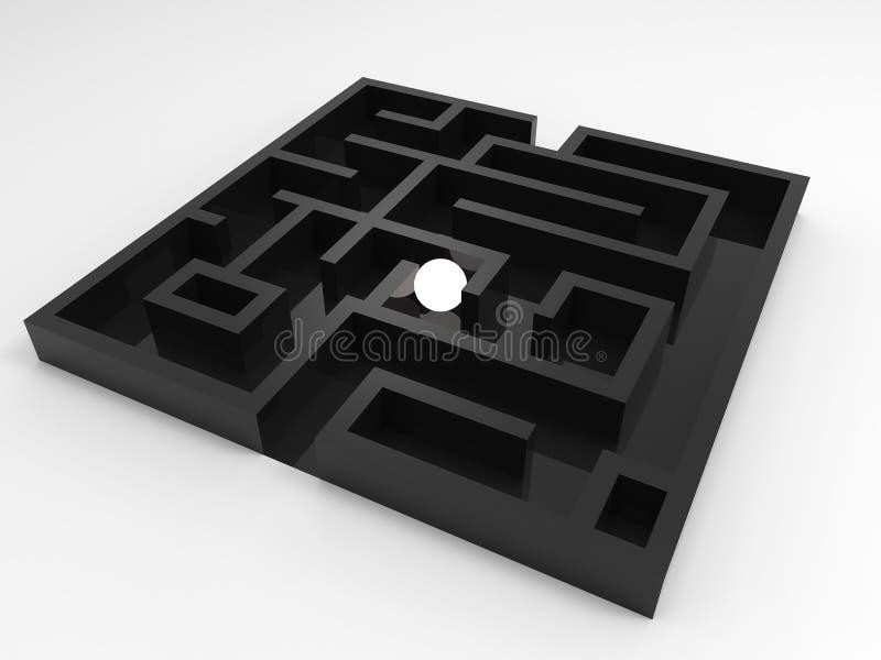 Bola de brilho no labirinto ilustração royalty free