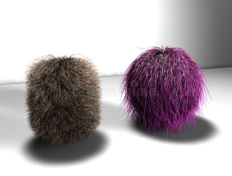 Bola de cabelo ilustração royalty free