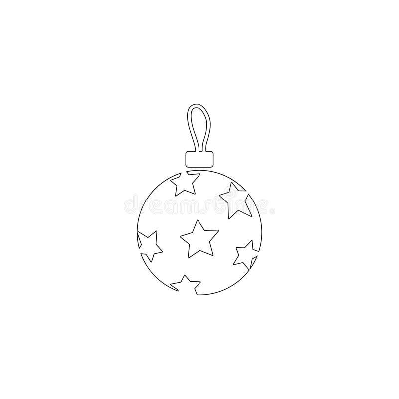 Bola de Christmass Icono plano del vector stock de ilustración