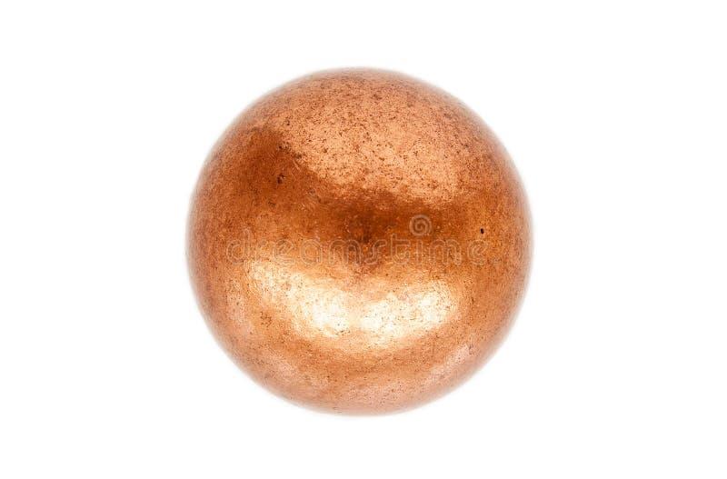 Bola de cobre roja fotografía de archivo libre de regalías