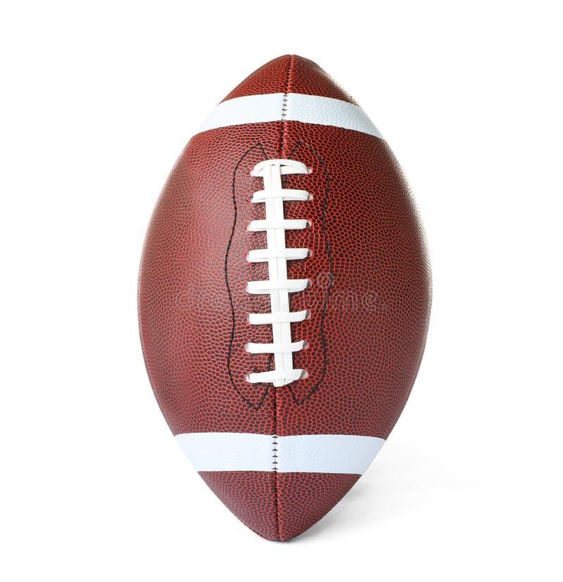 Bola de couro do futebol americano foto de stock
