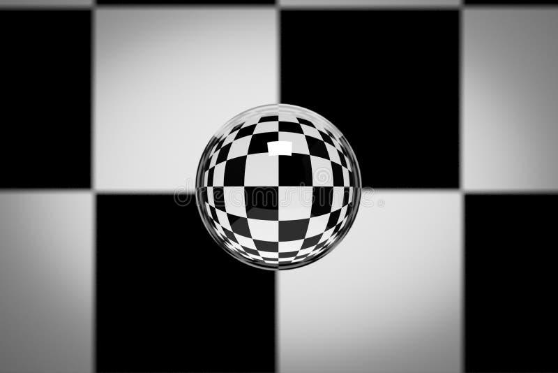 Bola de cristal stock de ilustración