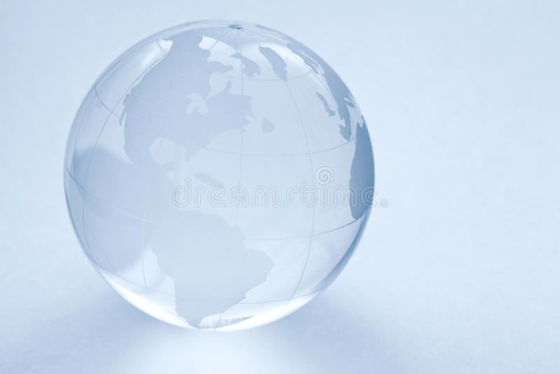 Bola de cristal del globo fotografía de archivo