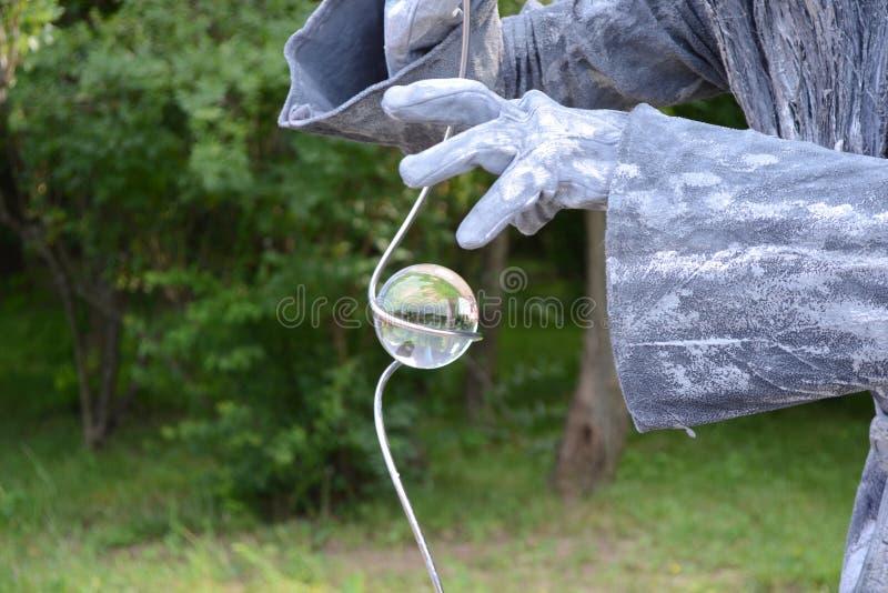 Bola de cristal mágica imagens de stock royalty free