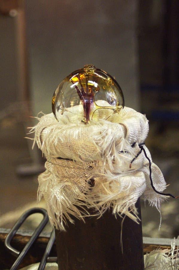 Bola de cristal soplada mano foto de archivo libre de regalías