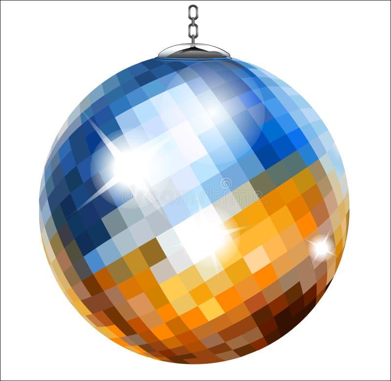 Bola de discoteca ilustración del vector