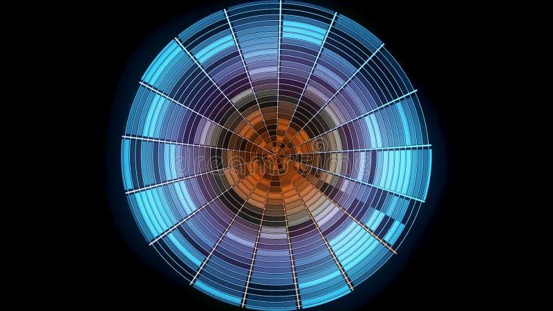 Bola de discoteca abstracta en fondo negro animación La bola de discoteca de la pendiente del color con puntos culminantes reflex libre illustration