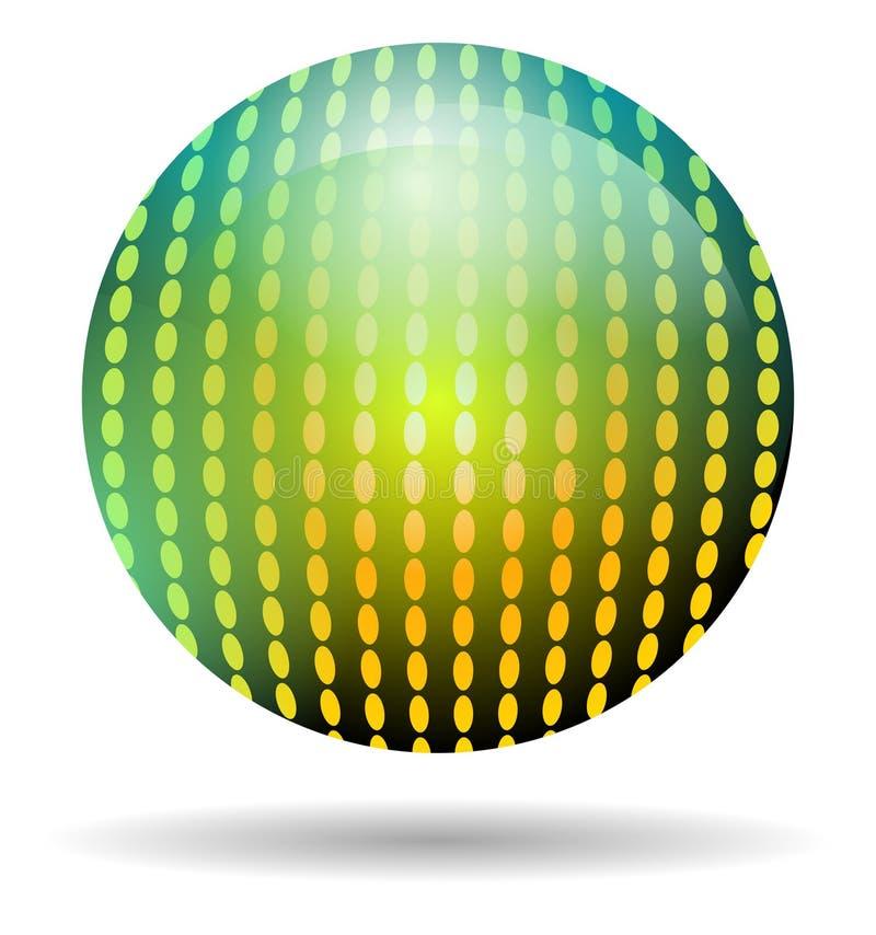 Bola de discoteca del arco iris aislada stock de ilustración