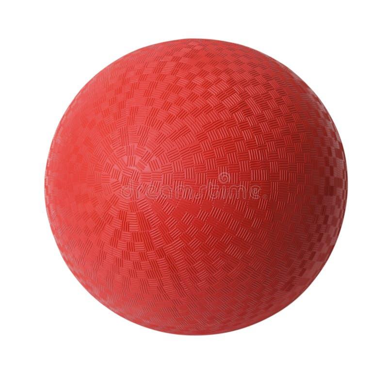Bola de Dodge roja imagen de archivo libre de regalías
