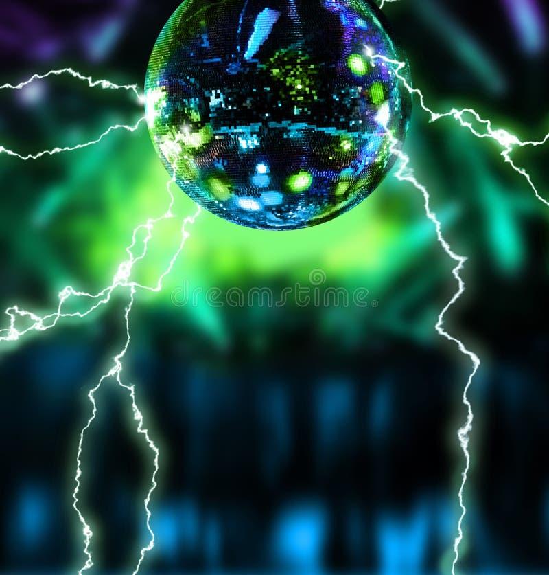Bola de eletrificação do espelho do disco ilustração royalty free