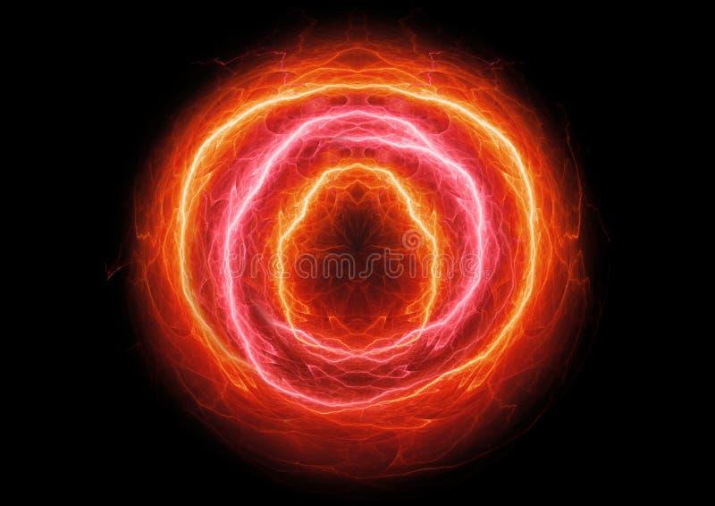 Bola de fogo elétrica ardente ilustração royalty free