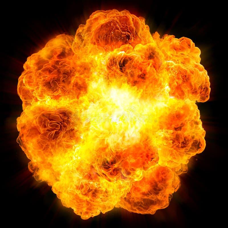 Bola de fogo: explosão fotos de stock