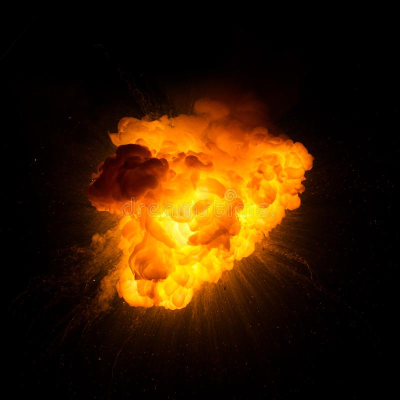 Bola de fogo: explosão, detonação imagens de stock royalty free