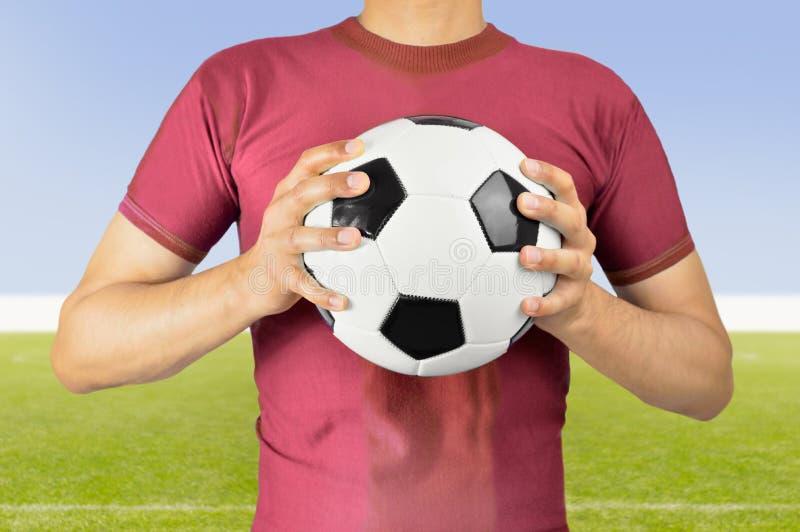 A bola de futebol é a minha foto de stock royalty free