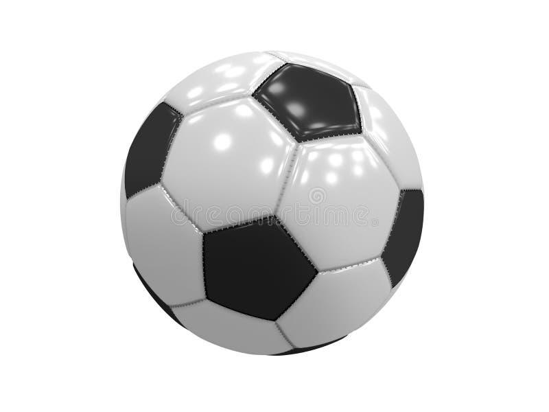 Bola de futebol clássica imagem de stock royalty free