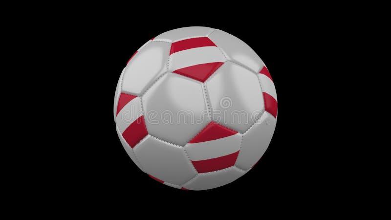 Bola de futebol com bandeira Áustria, rendição 3d ilustração stock