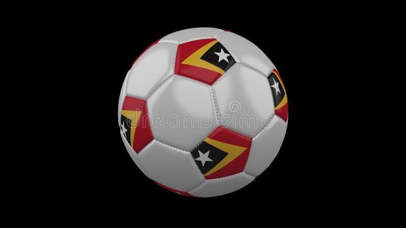 Bola de futebol com bandeira Timor-Leste, rendição 3d ilustração stock