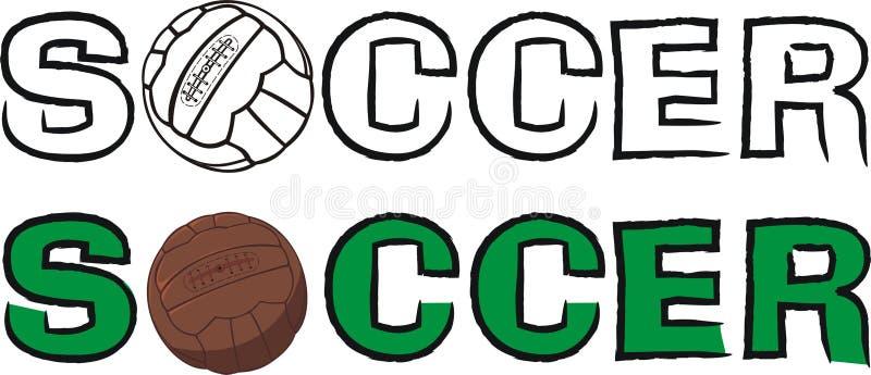 Bola de futebol com inscrição ilustração do vetor