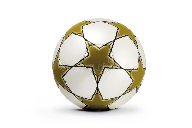 Bola de futebol, copo de campeões foto de stock