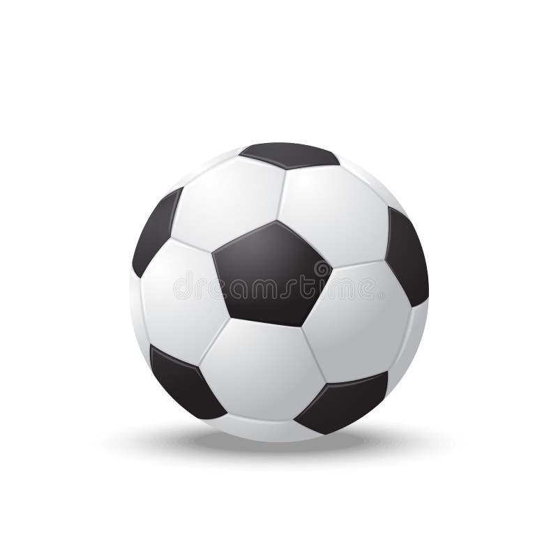 Bola de futebol 3d detalhada realística Vetor ilustração do vetor
