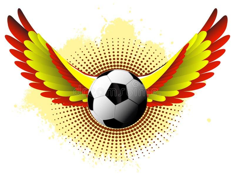 Bola de futebol da Espanha ilustração stock