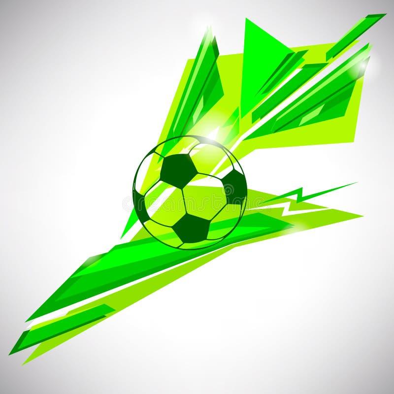 Bola de futebol do futebol no CCB abstrato triangular das linhas e das formas ilustração stock