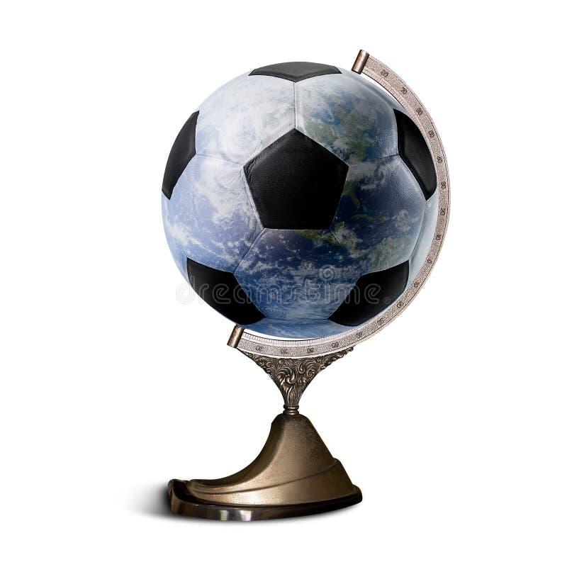 Bola de futebol do mundo imagem de stock royalty free