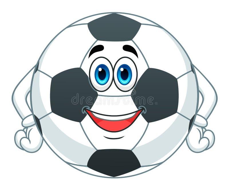 Bola de futebol dos desenhos animados ilustração do vetor