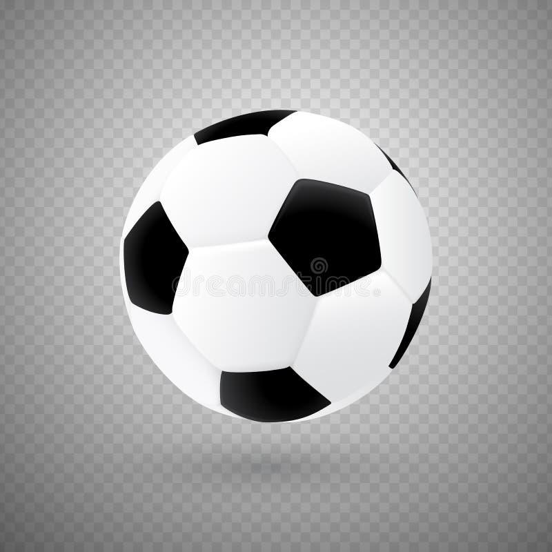 Bola de futebol isolada do vetor com projeto clássico ilustração do vetor