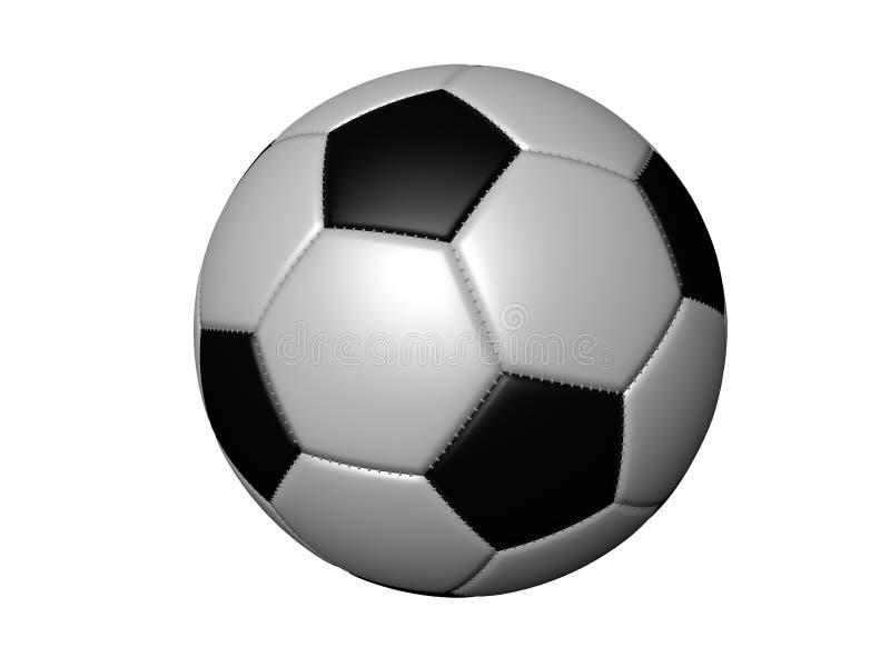 Bola de futebol isolada realística em um fundo branco sem uma sombra, rendição 3d ilustração do vetor