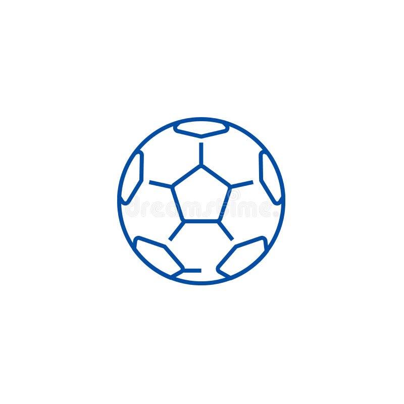 Bola de futebol, linha conceito do futebol do ícone Bola de futebol, símbolo liso do vetor do futebol, sinal, ilustração do esboç ilustração royalty free