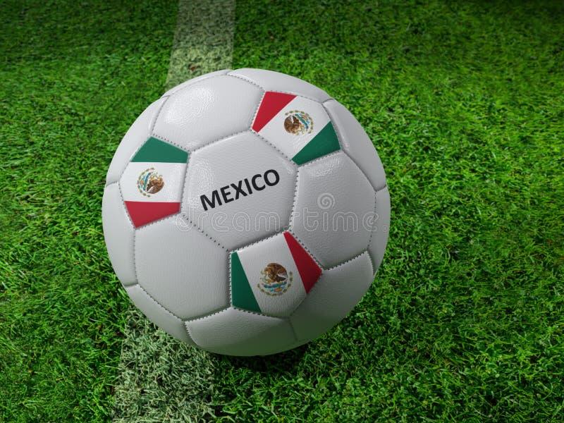 Bola de futebol de México ilustração royalty free