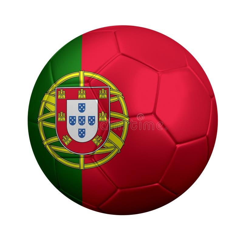 Bola de futebol portuguesa foto de stock