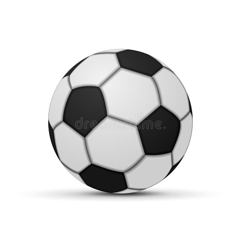 Bola de futebol realística isolada ilustração stock