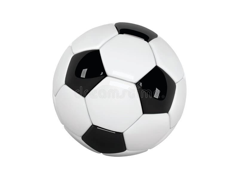 Bola de futebol realística ou bola do futebol no fundo branco bola do vetor do estilo 3d isolada no fundo branco ilustração do vetor