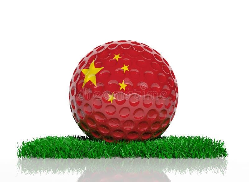 Bola de golfe ilustração royalty free