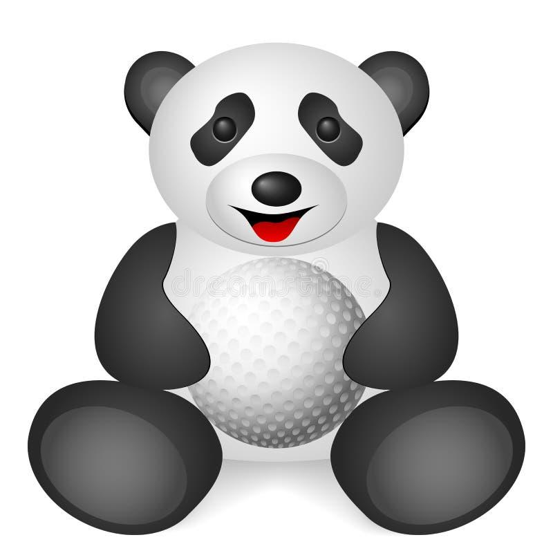 Bola de golfe da panda ilustração royalty free
