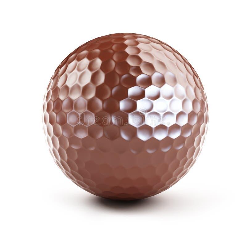 Bola de golfe do chocolate ilustração stock