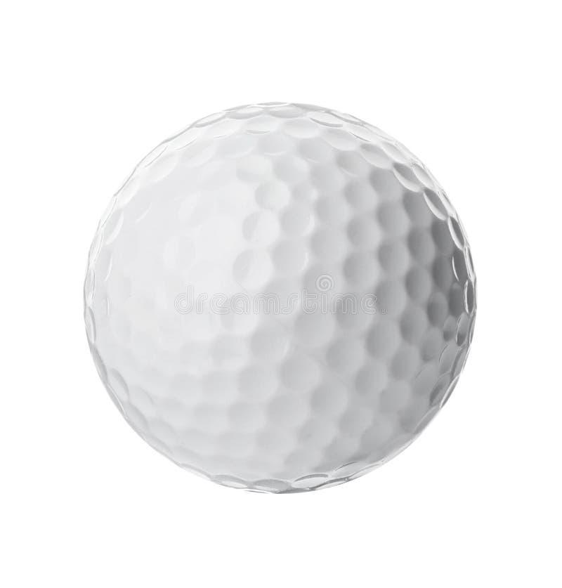 Bola de golfe no branco Equipamento de esporte imagens de stock royalty free