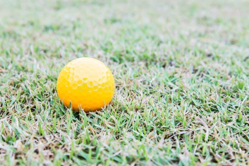Bola de golfe no curso fotos de stock royalty free