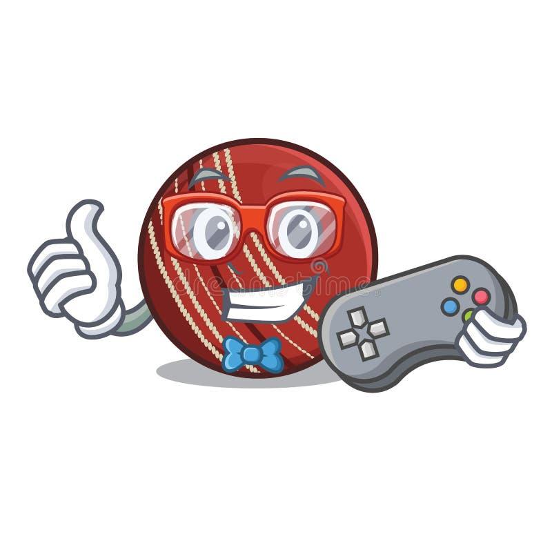 Bola de grilo do Gamer na forma dos desenhos animados ilustração do vetor