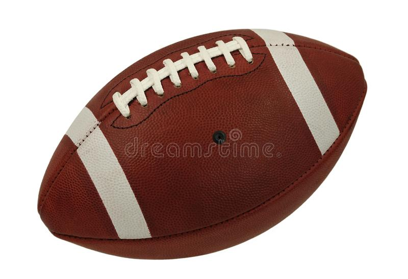 Bola de jogo de couro do futebol americano isolada fotografia de stock