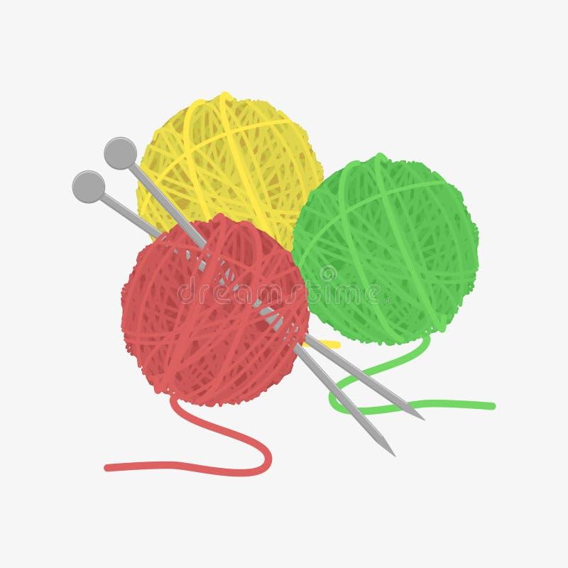 Bola de lãs ilustração stock
