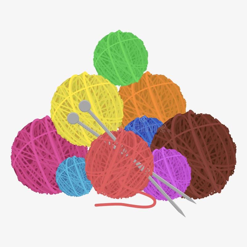 Bola de lãs ilustração do vetor