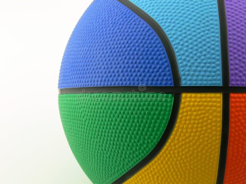 Bola de la cesta de seis colores imagen de archivo