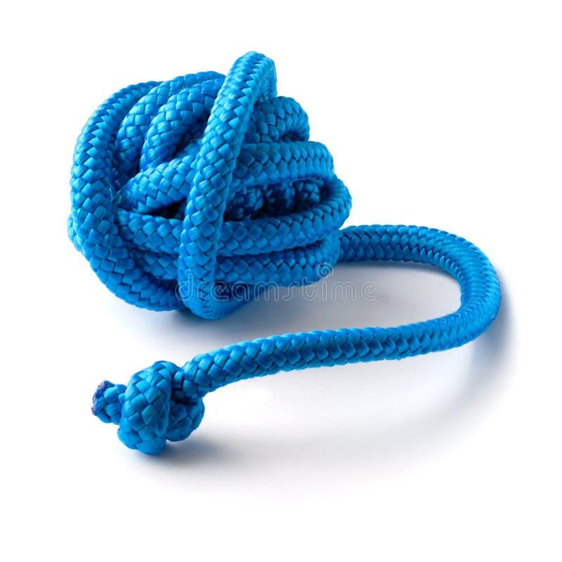 Bola de la cuerda gimnástica azul fotos de archivo