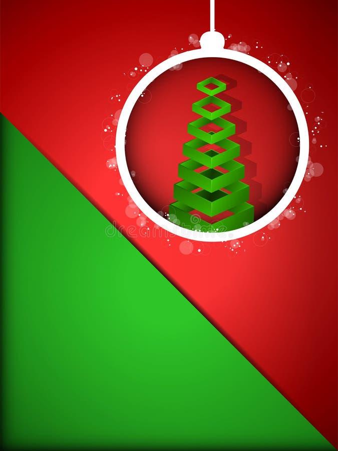 Bola de la Feliz Año Nuevo de la Feliz Navidad en Backgro rojo libre illustration