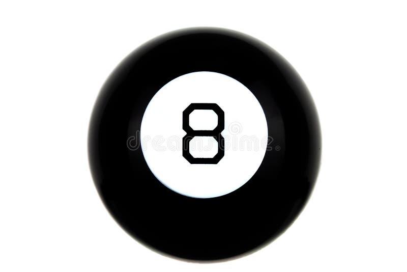 Bola de la magia 8 de predicciones aislada imagenes de archivo