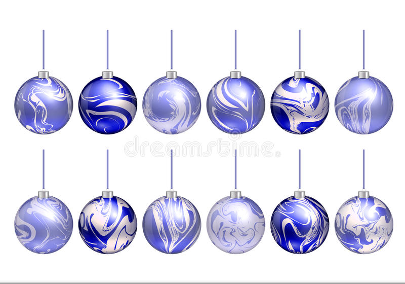 Bola de la Navidad ilustración del vector