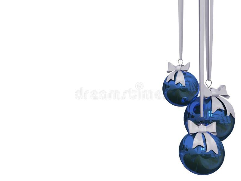 Bola de la Navidad aislada sobre blanco stock de ilustración